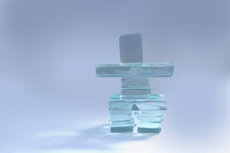 Glass Inuksuk royaltyfri foto