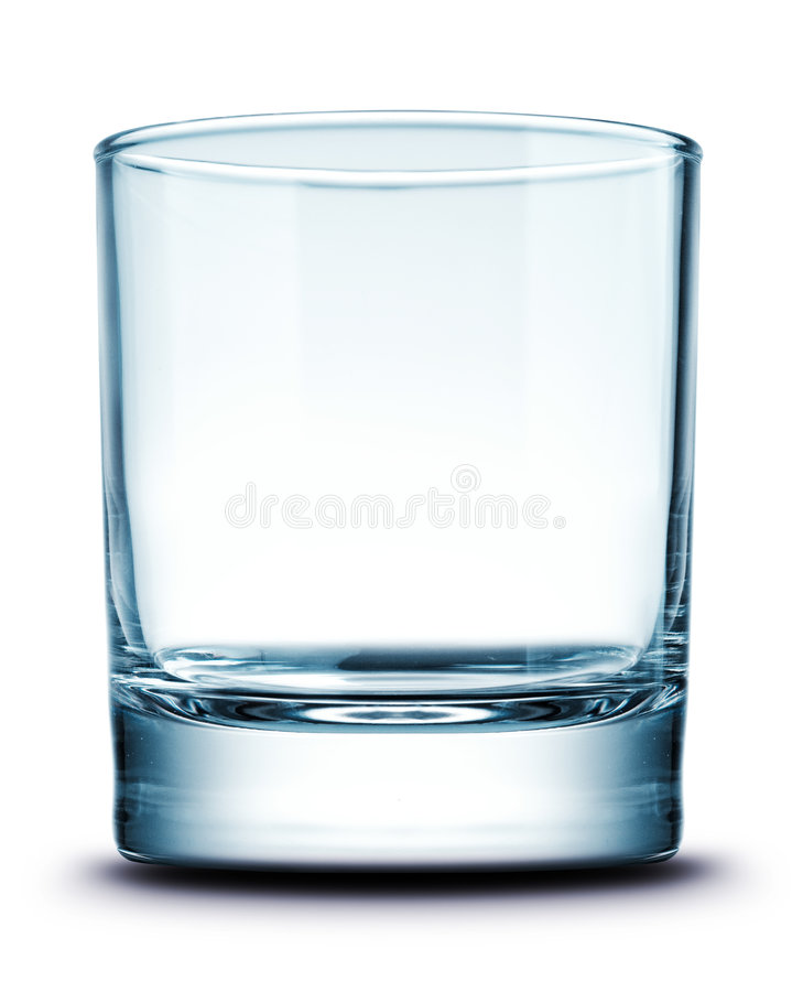 Glass isolated stock image