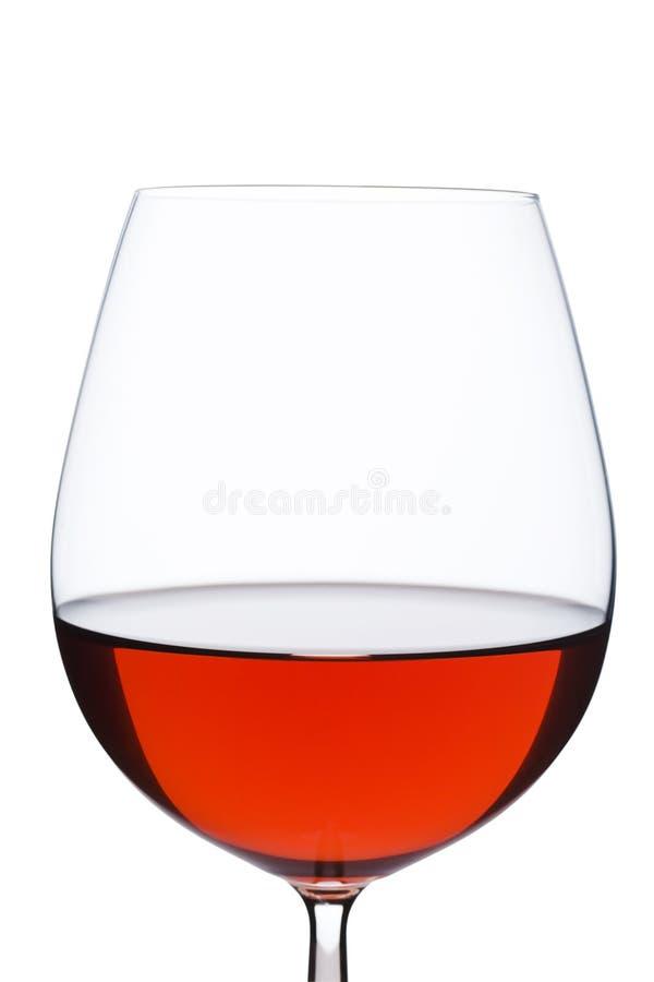 glass isolaterött vin fotografering för bildbyråer