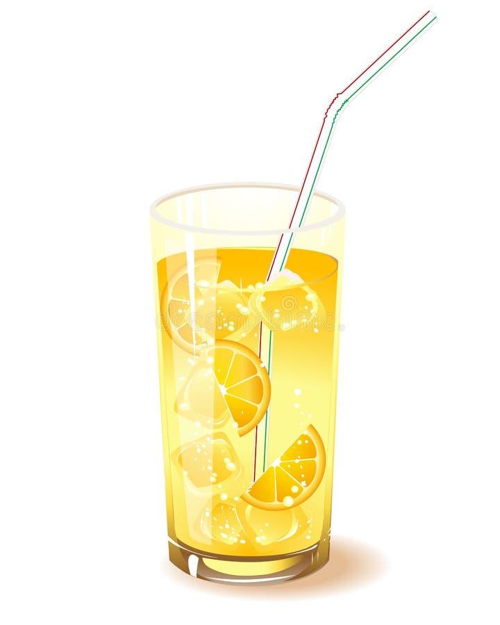 glass isorange för drink royaltyfri illustrationer