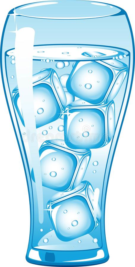 glass isvatten stock illustrationer