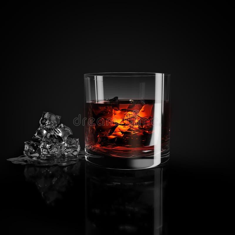 glass iswhiskey fotografering för bildbyråer