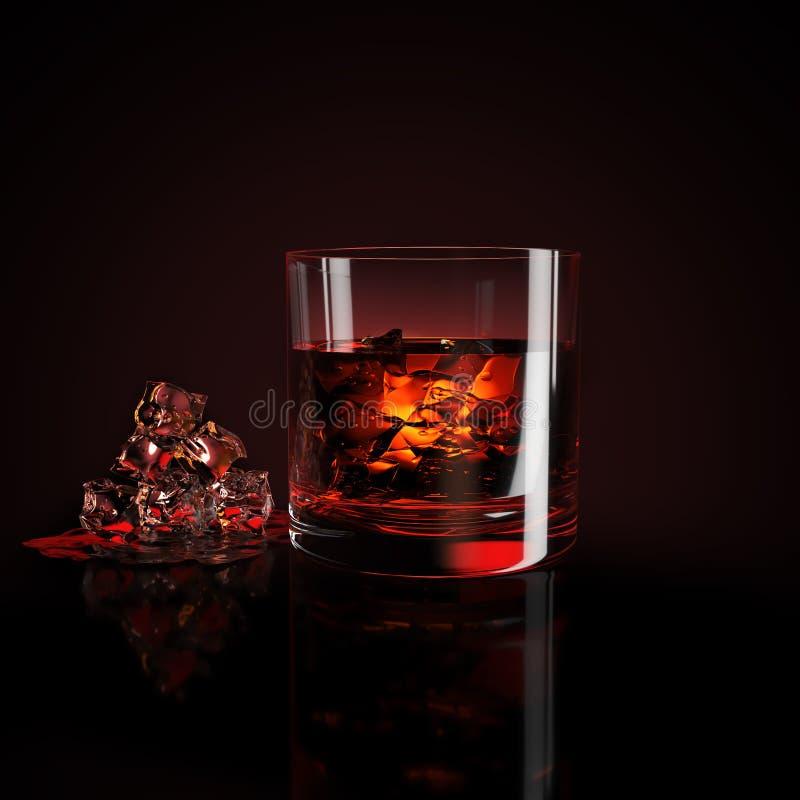 glass iswhiskey royaltyfri fotografi