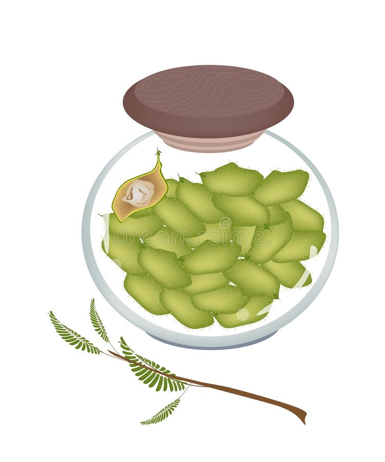 Download A Glass Jar Of Chick Pea On White Background Stock Vector - Illustration of channa, chana: 40658675