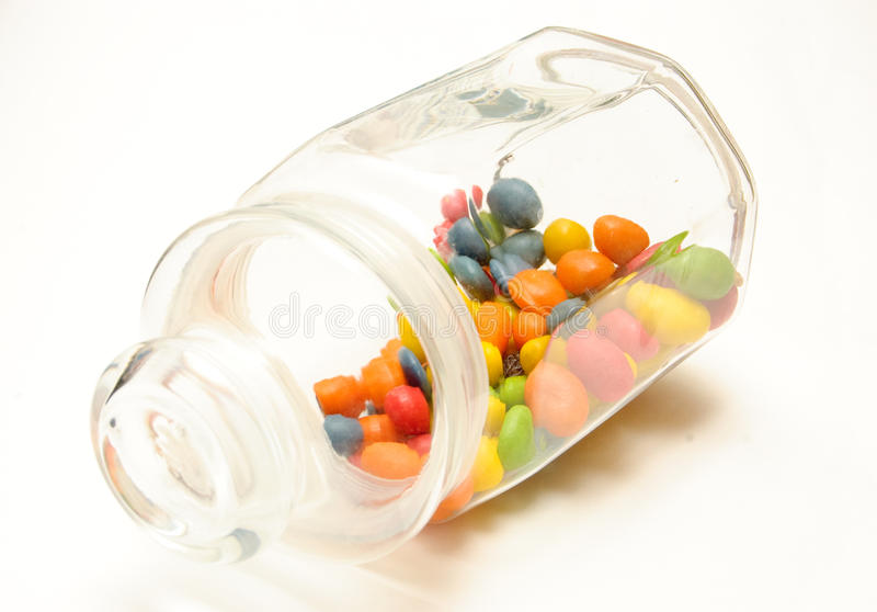 Download A Glass Jar With Colored Candies Stock Image - Image: 12809305