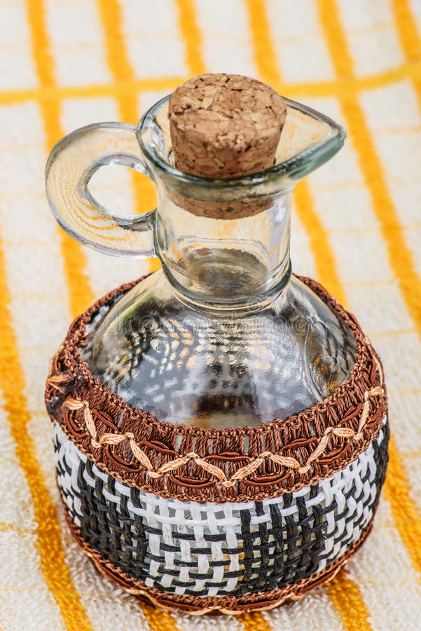 Download Glass Jar With Wicker Elements Stock Photo - Image of empty, background: 33568890