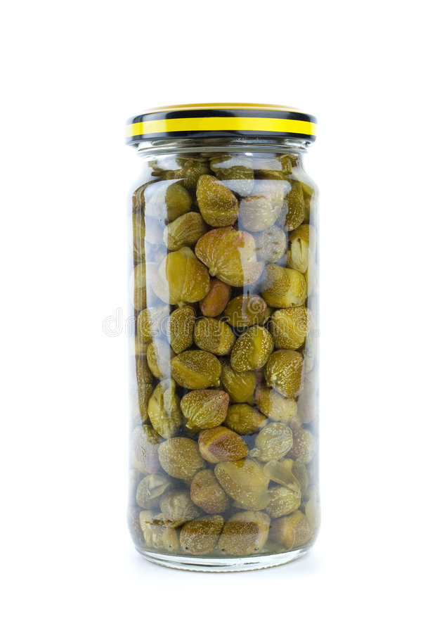 Free Glass Jar With Marinated Capers Stock Images - 7912484