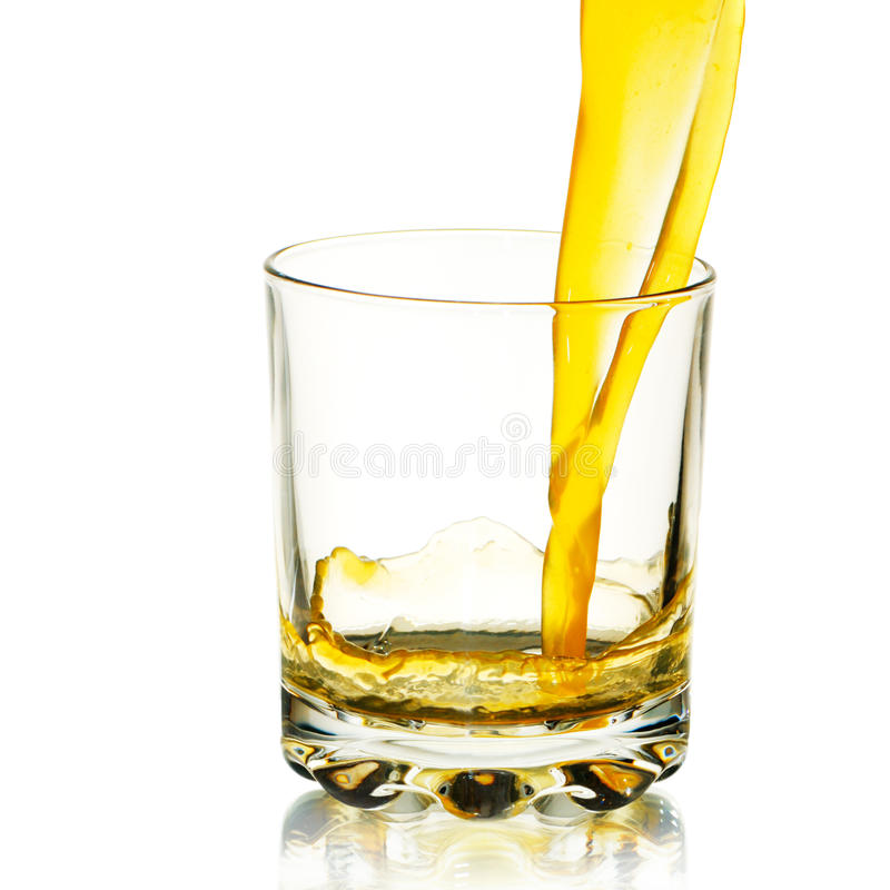 Glass with juice stock images