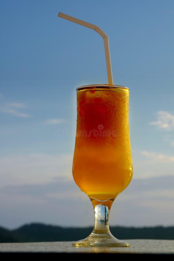 Glass of juice stock photo