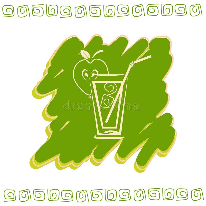 Glass of juice icon stock photography