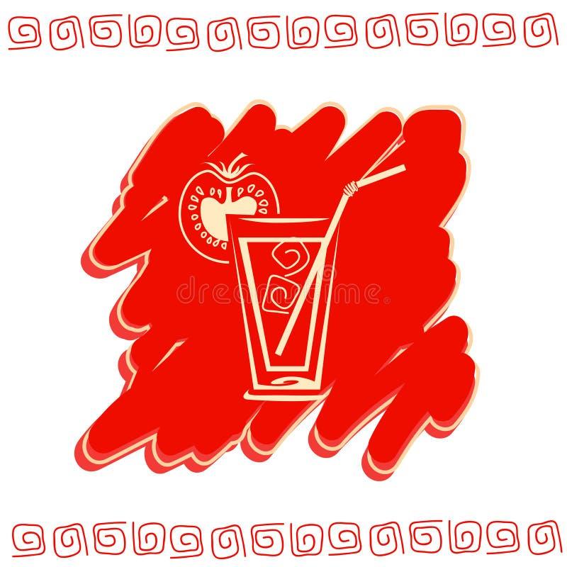 Glass of juice icon stock image