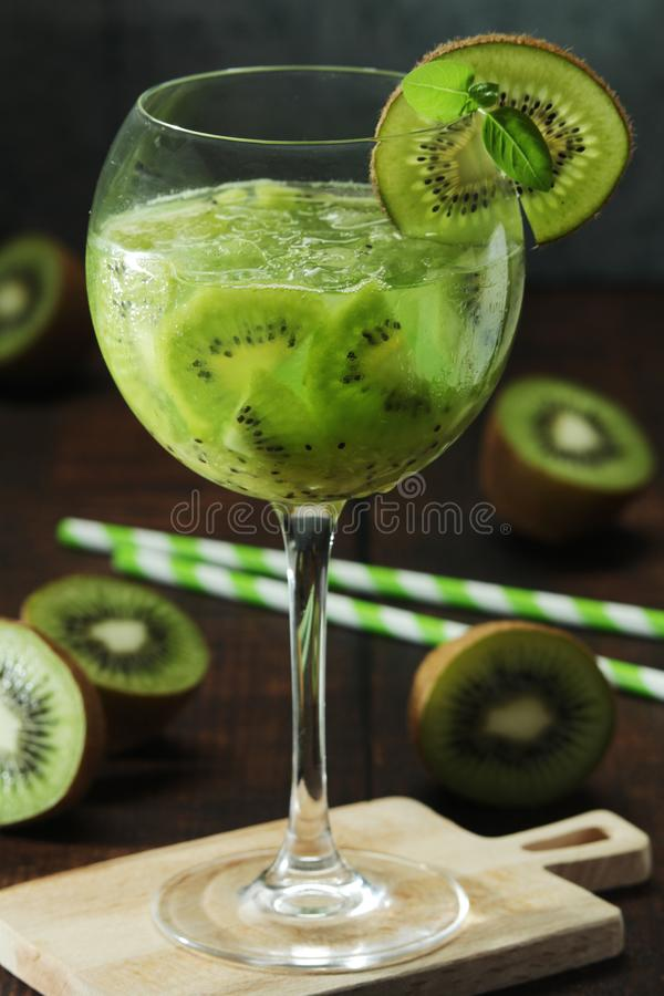A glass with kiwi cocktail royalty free stock images