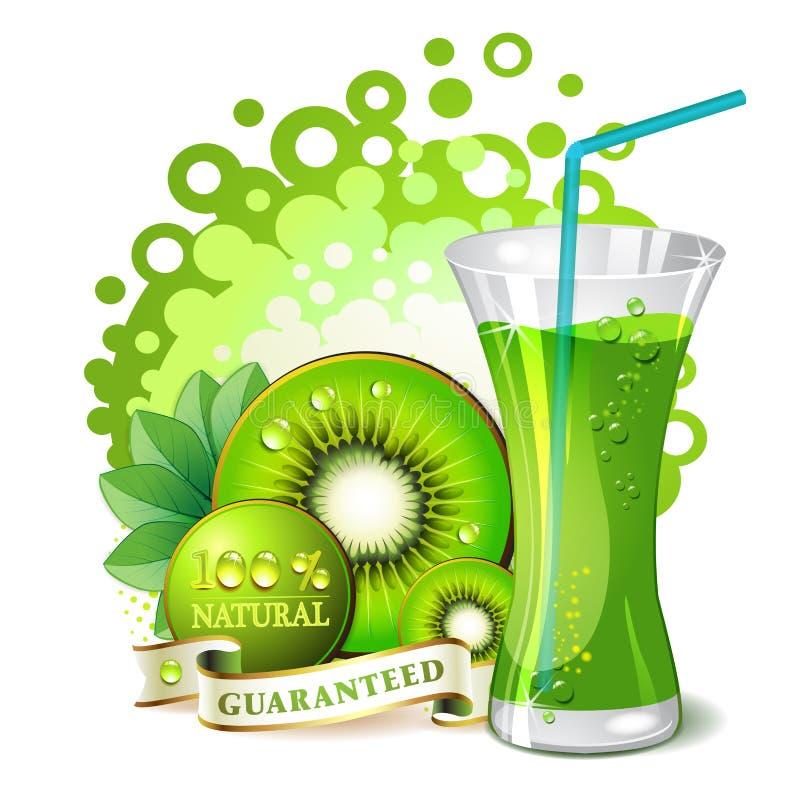 Glass Of Kiwi Juice Royalty Free Stock Photo