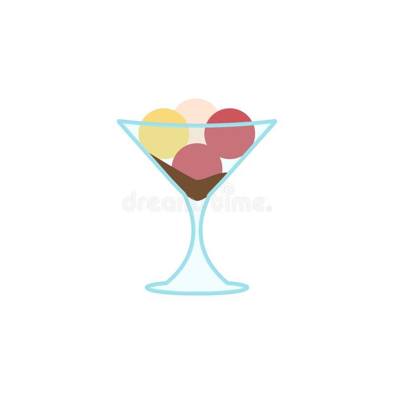 Glass klassificerar kulöra symbolen för choklad den lilly Beståndsdel av glassillustrationsymbolen Tecknet och symboler kan använ royaltyfri illustrationer