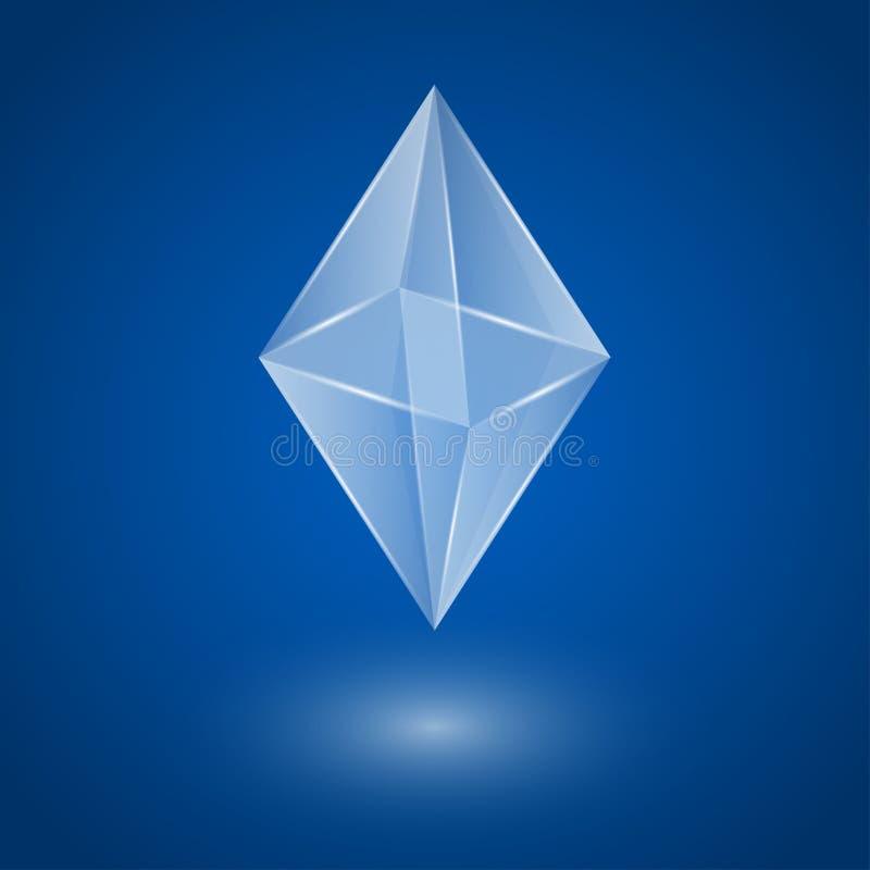 Download Glass kristall vektor illustrationer. Illustration av objekt - 37348972