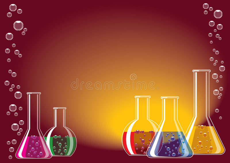 glass laboratorium vektor illustrationer