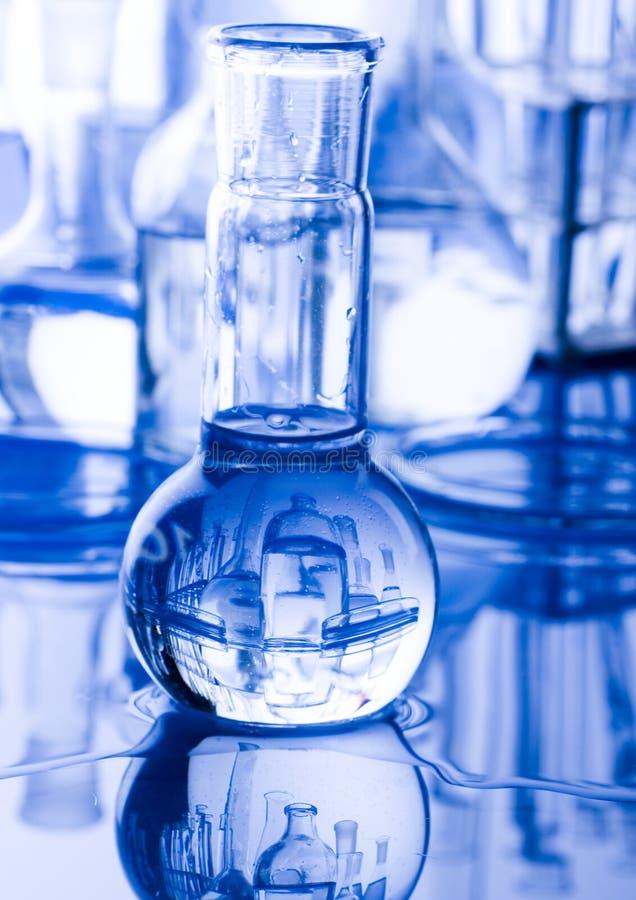 Glass in laboratory stock photo