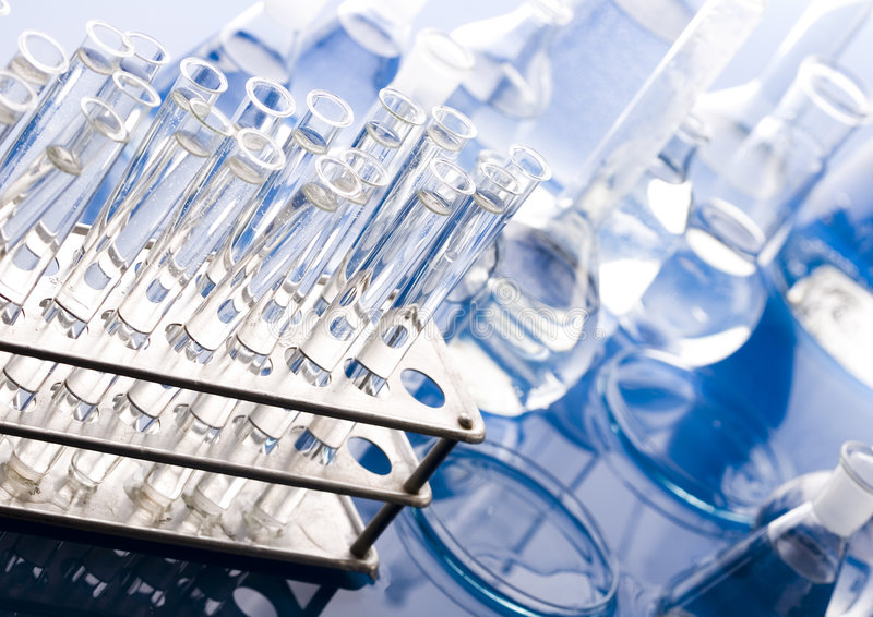Glass in laboratory royalty free stock photos