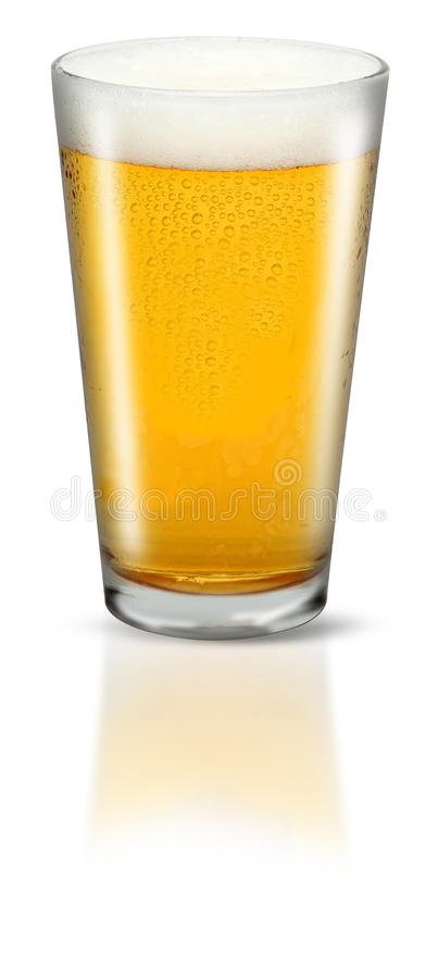 Download Glass of Lager stock image. Image of spill, cold, thick - 21727669