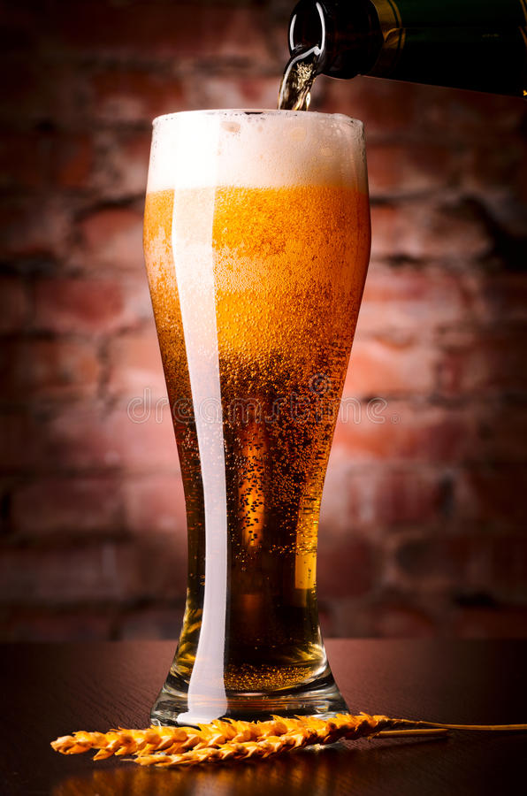 Download Glass of lager stock image. Image of brick, drink, life - 29345269