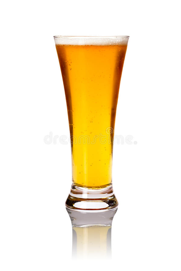 Glass of lager beer royalty free stock images