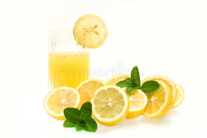 Download Glass With Lemon Juice stock image. Image of drink, mint - 16632435