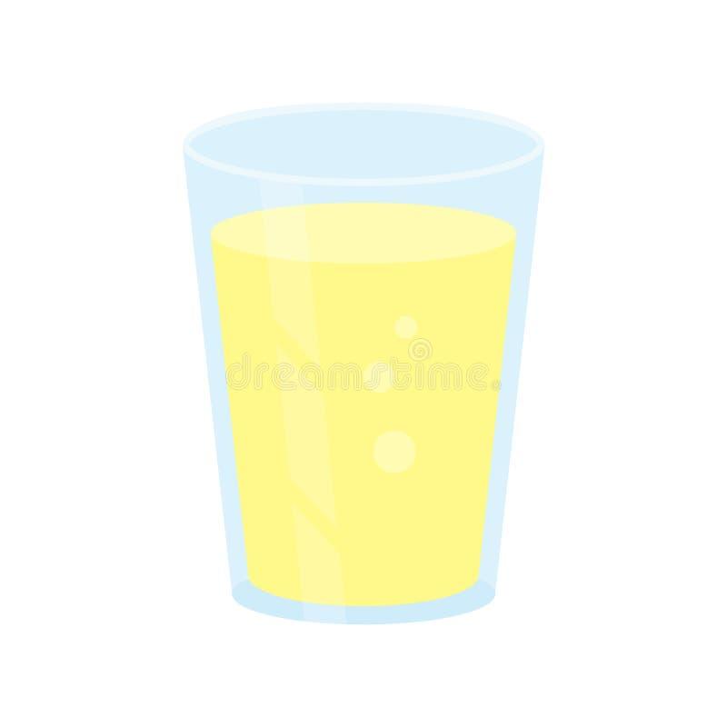 Glass of lemonade stock illustration