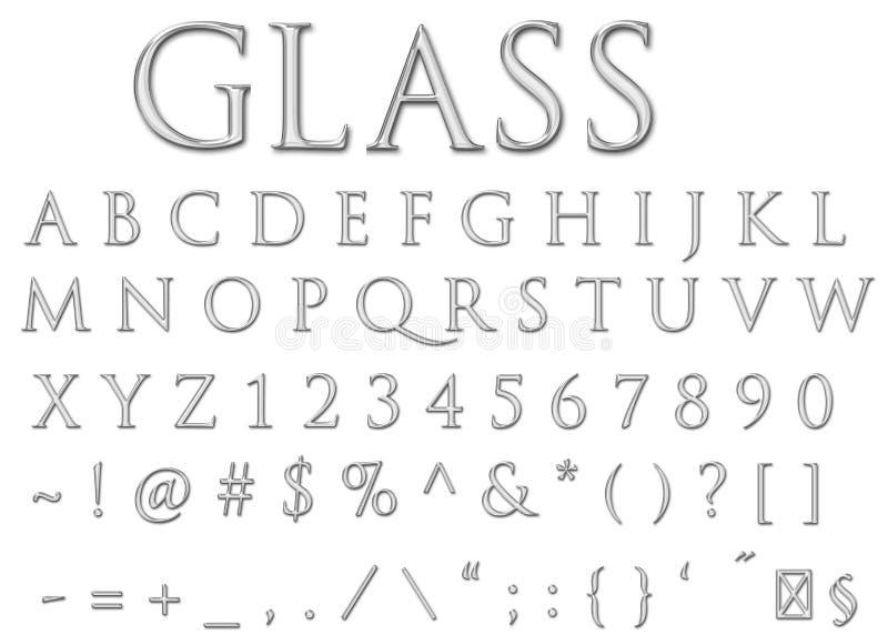 Download Glass letters stock illustration. Illustration of letters - 18644609