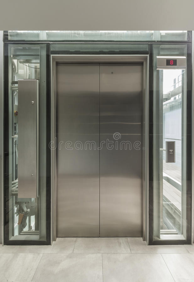 Glass Lift Royalty Free Stock Images