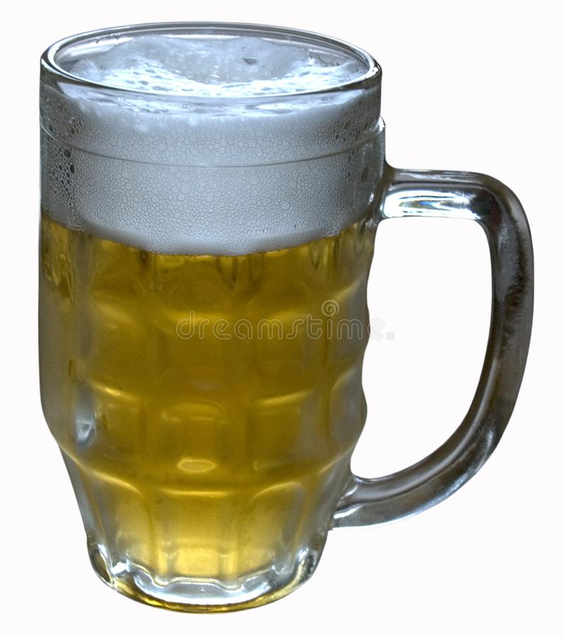 A glass of light beer royalty free stock image