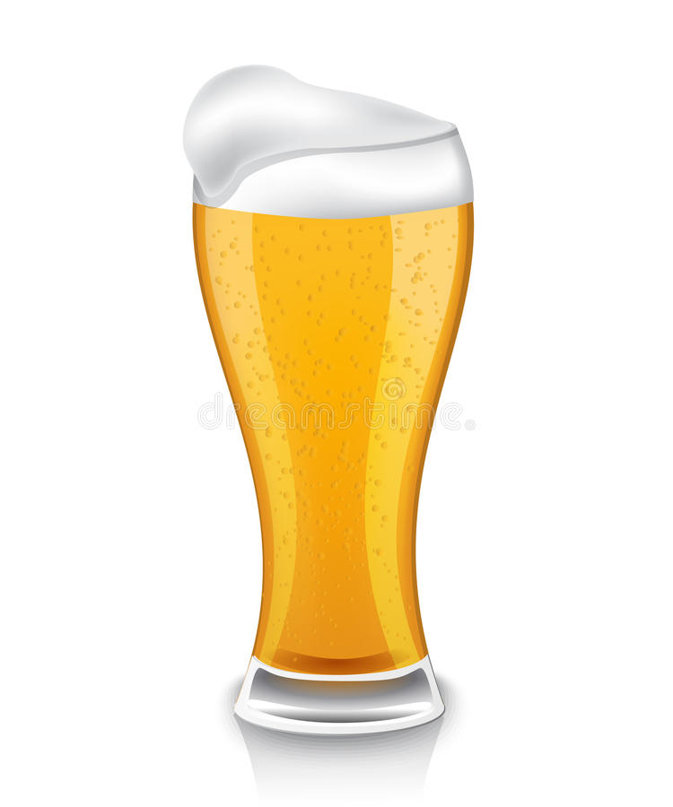 Download Glass of light beer stock illustration. Image of alcohol - 33029099