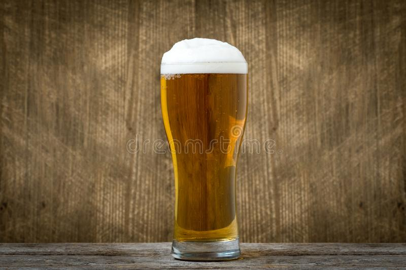 Glass of light lager beer stock images