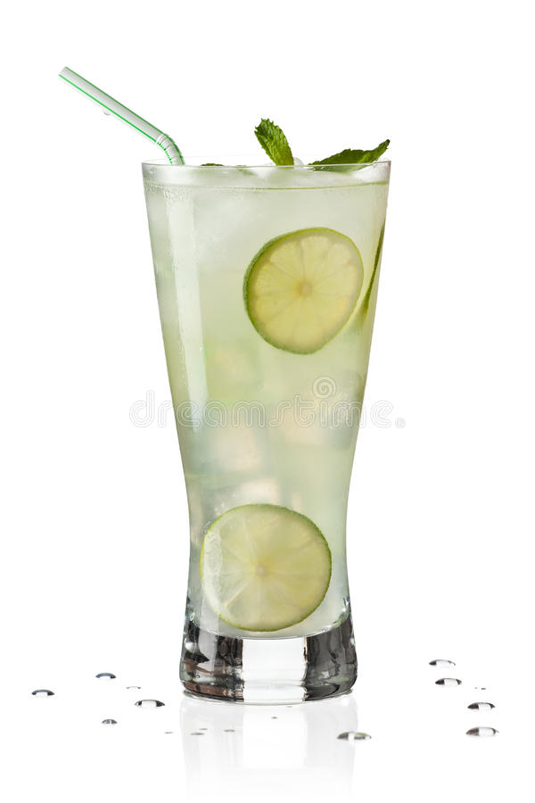 Glass of Limeade stock photography