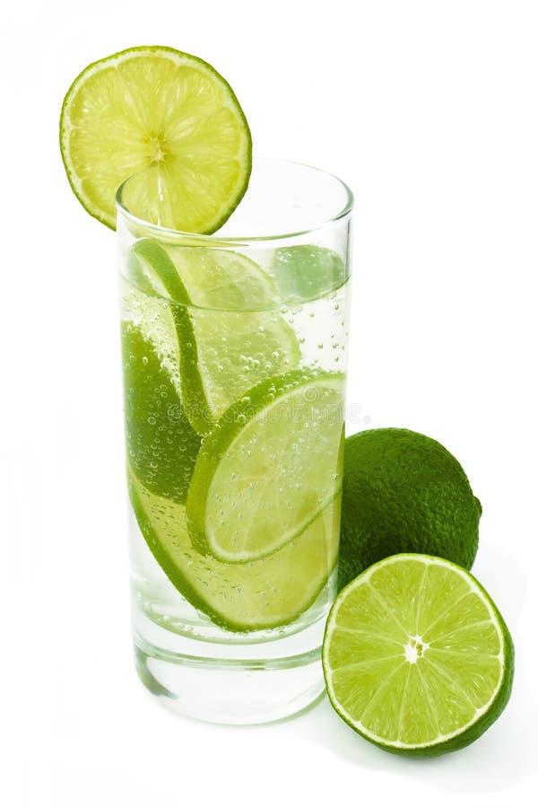 glass limefruktvatten royaltyfria foton