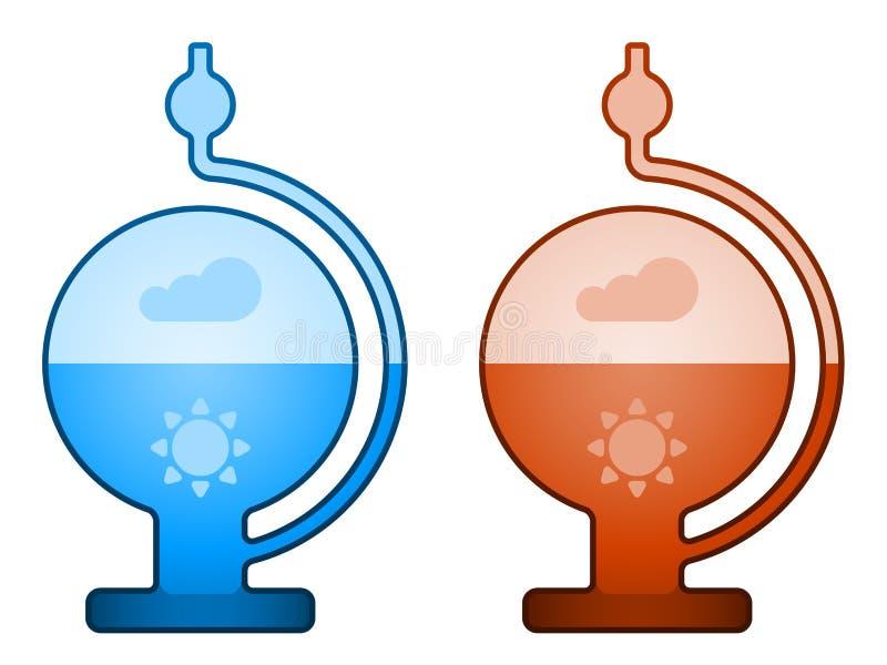 Glass liquid barometer royalty free illustration