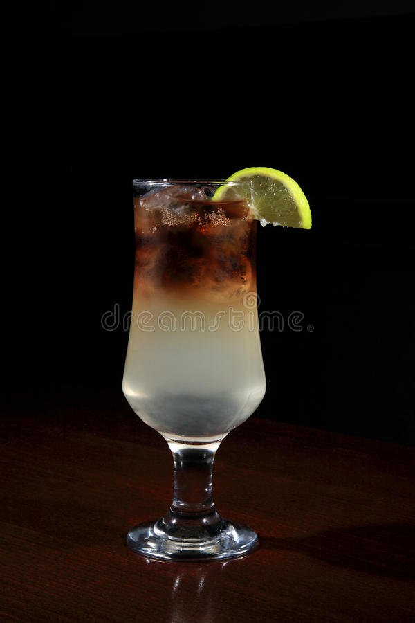 Glass of long island cocktail stock image