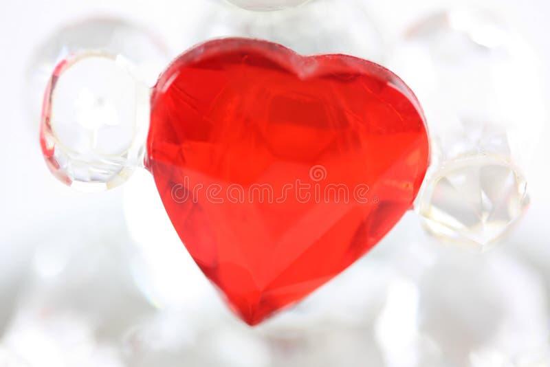 Glass love heart royalty free stock photo