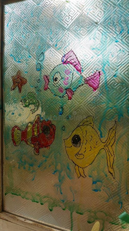 Glass målarfärg royaltyfria foton