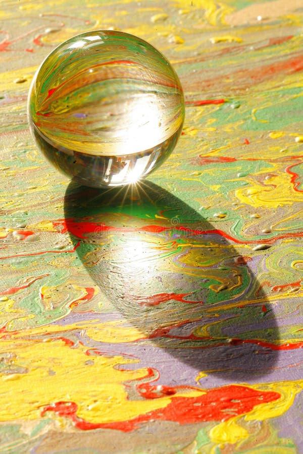 glass målningssphere royaltyfri foto