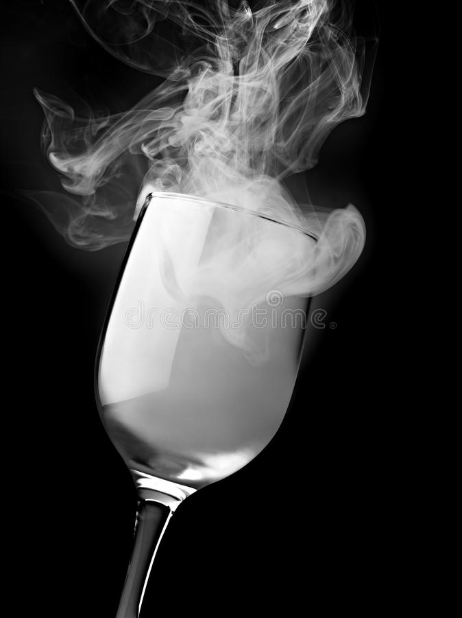 Glass of magical smoke