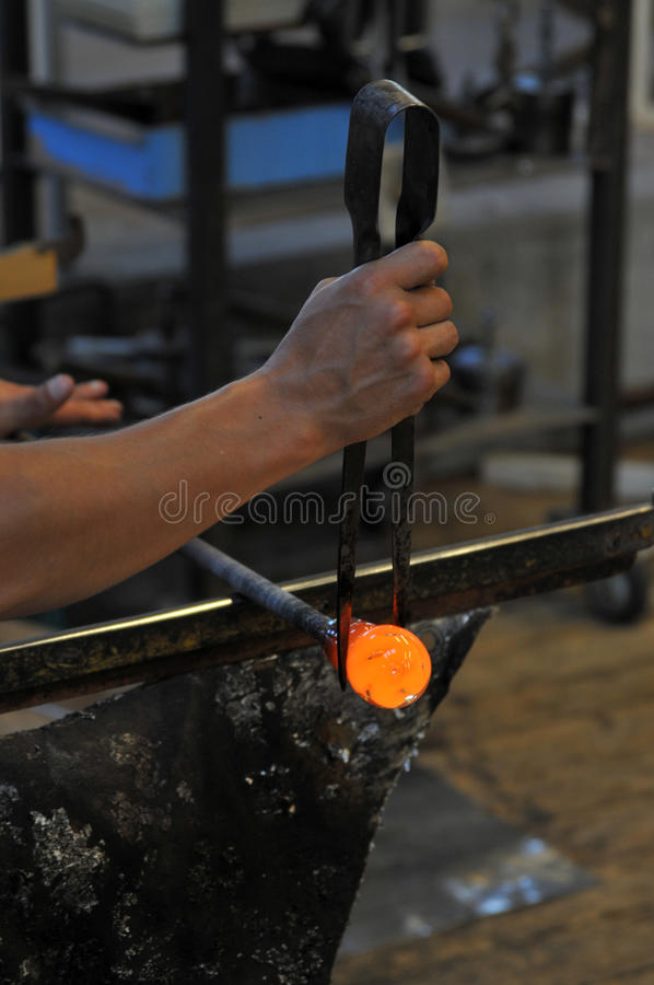 Glass making factory