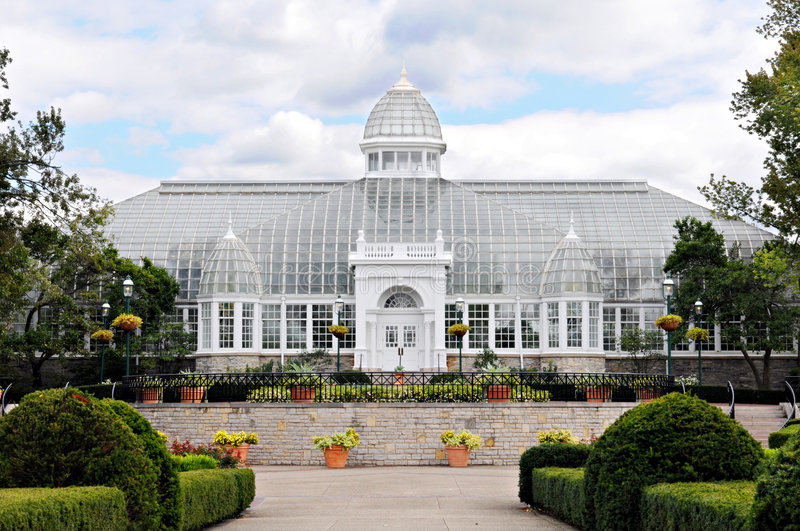 Glass Mansion Conservatory stock images