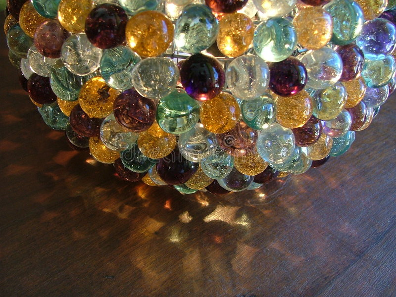 Glass Marble Lamp stock photo