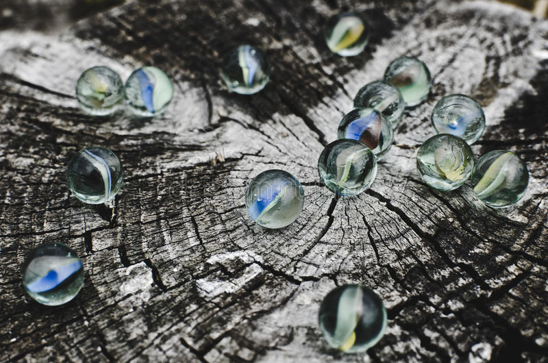 Glass marbles royalty free stock photo