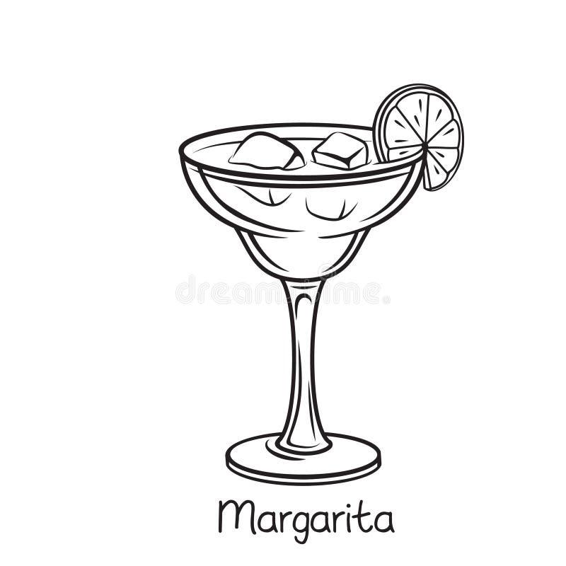 glass margarita royaltyfri illustrationer