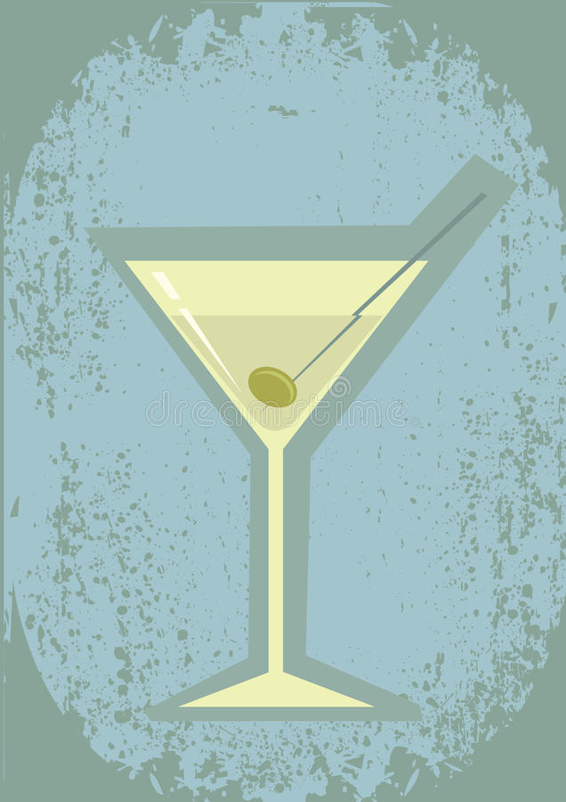 Glass of martini royalty free stock photo
