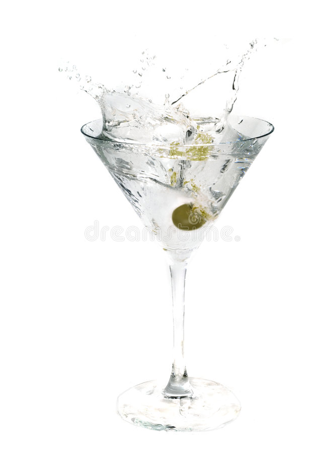 glass martini royaltyfria bilder