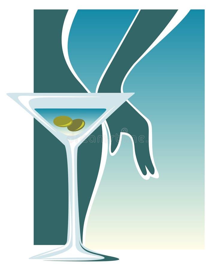 glass martini vektor illustrationer