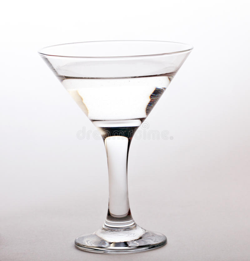 Glass of martini isolated on white royalty free stock image
