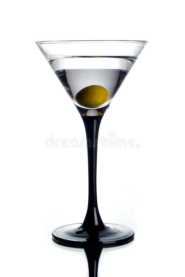 glass martini olivgrön royaltyfria bilder